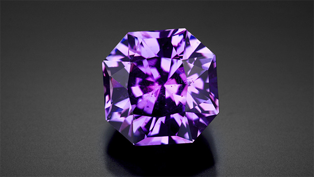 Notable large, unheated purple Montana sapphire.