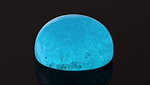 Electric blue 5.61 ct hemimorphite.