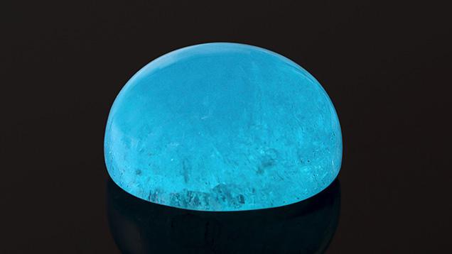 Electric blue 5.61 ct hemimorphite.