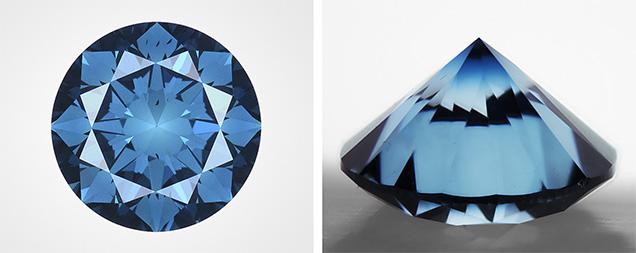 Artificially irradiated Fancy Deep greenish blue diamond weighing 1.00 ct.