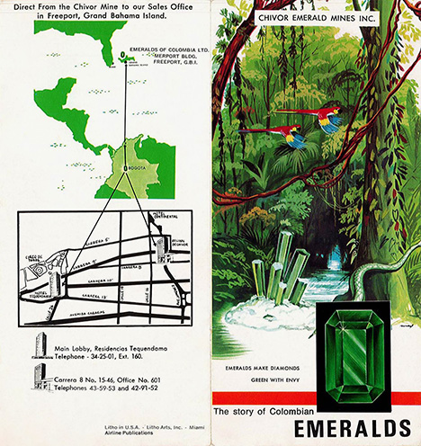 1960s ad for Chivor emeralds