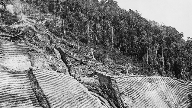 Step-mining operations at Chivor in the 1920s