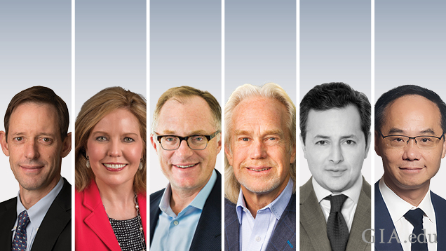 """Portraits of the six speakers at the Symposium """"Futurescape Forum"""""""