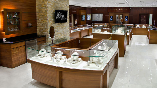 A view of J.R. Dunn Jewelers luxury showroom.
