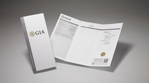 GIA Synthetic Colored Diamond Report with main components of the report on display and front cover.