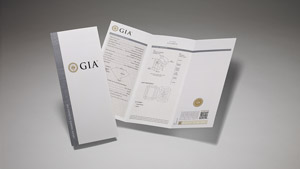 GIA Synthetic Colored Diamond Grading Report with main components of the report on display and front cover.