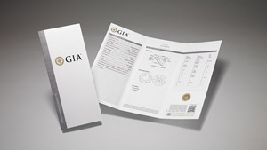 GIA Synthetic Diamond Grading Report with main components of the report on display and front cover.