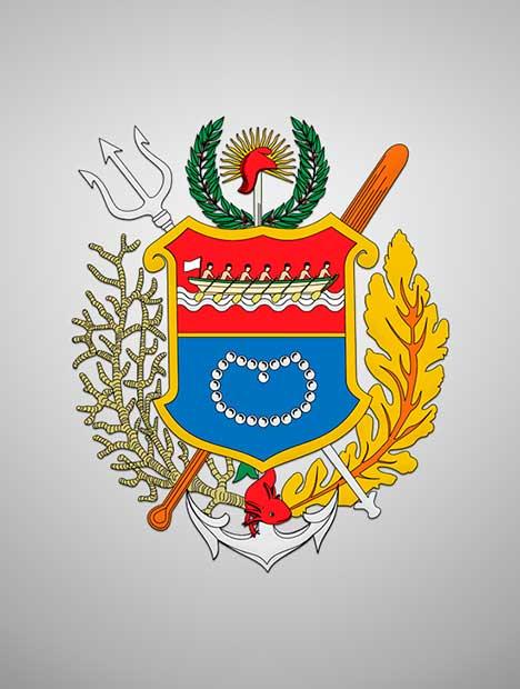 Coat of arms of Nueva Esparta, Venezuela.