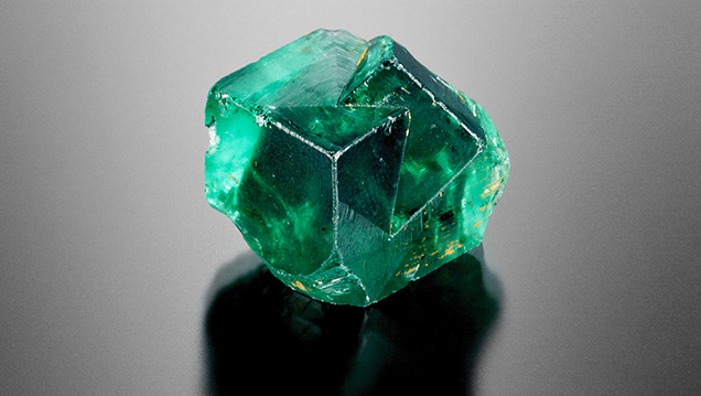 Cluster of green fluorite cubes
