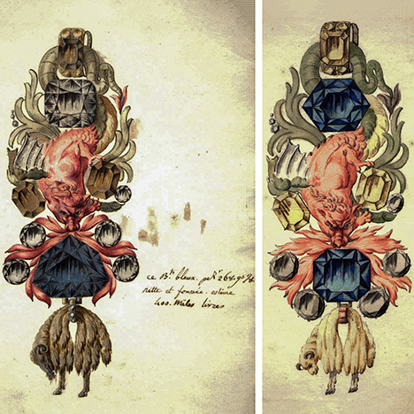 Two designs for Louis XV's Order of the Golden Fleece emblem
