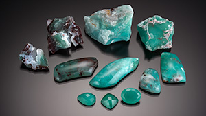"""Chalcedony marketed under the name """"Aquaprase."""""""