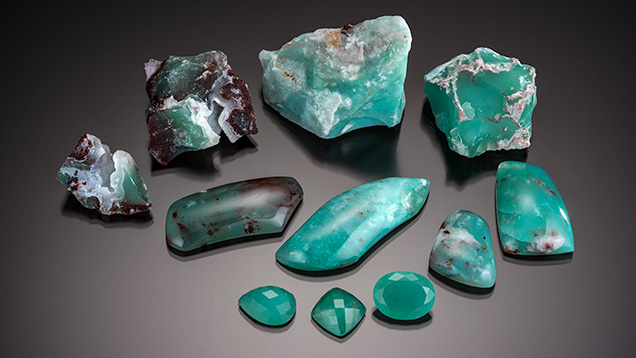 a new natural color bluish green chalcedony gems gemology