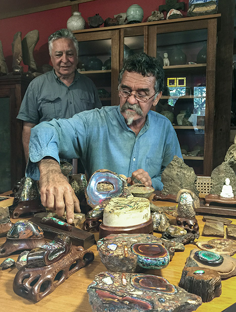 Eddie Maguire and his opal collection