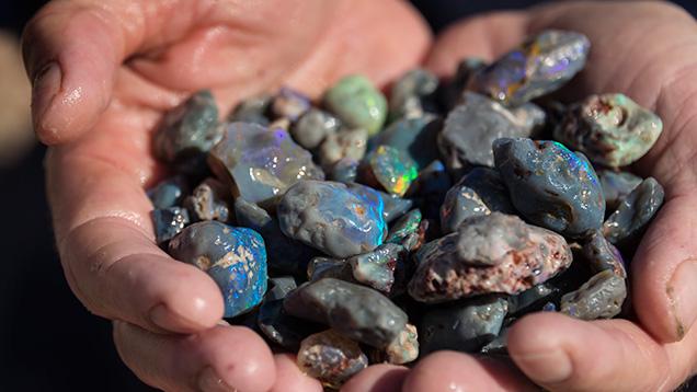 Handful of opal