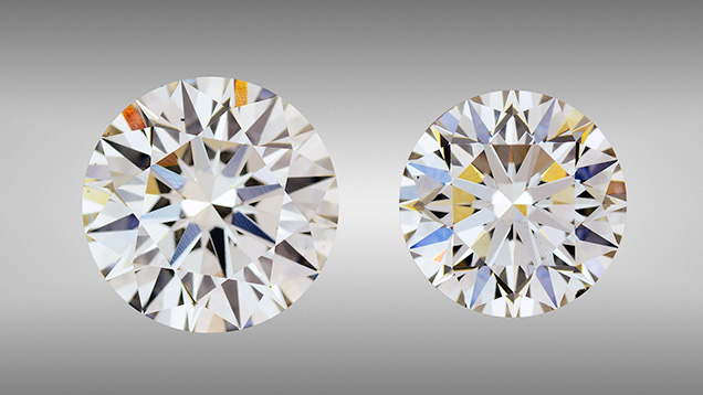 2.51 and 3.23 ct CVD synthetic diamonds