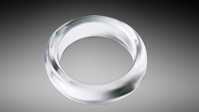 Synthetic quartz bangle examined in Bangkok.
