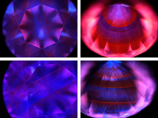 DiamondView images of large CVD synthetic diamonds