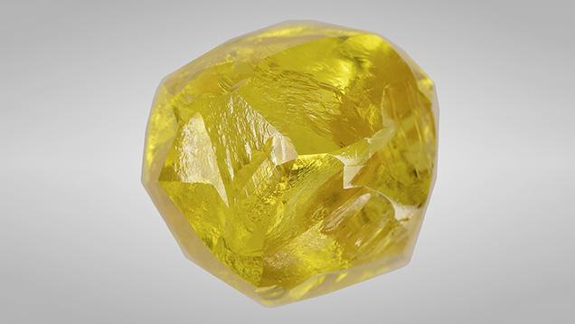 13.09 ct Fancy yellow rough diamond