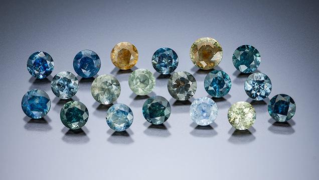 Alluvial Montana sapphire samples
