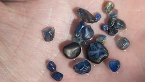 Trapiche-type sapphire from Tasmania.