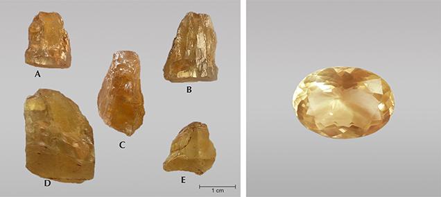 Rough danburite crystals from Luc Yen, Vietnam