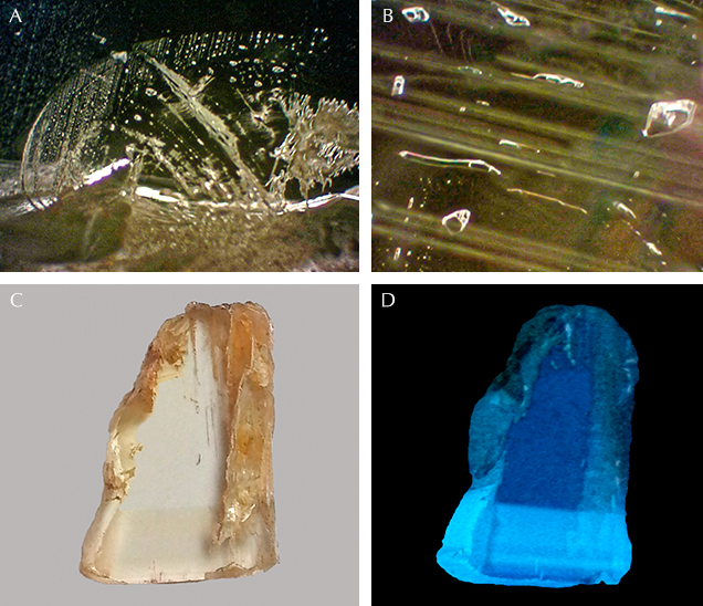 Internal features of Vietnamese danburite.