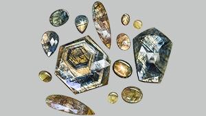 """""""Gold sheen"""" sapphires"""