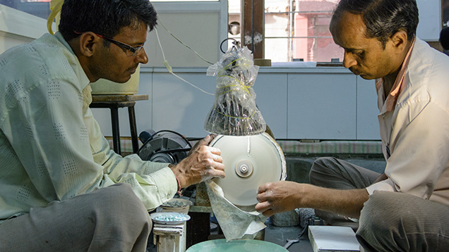 National Facets' factory for beads and cabochons
