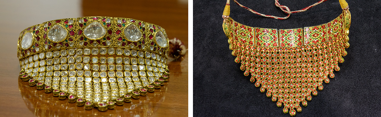Traditional Indian wedding jewelry, finished on both sides