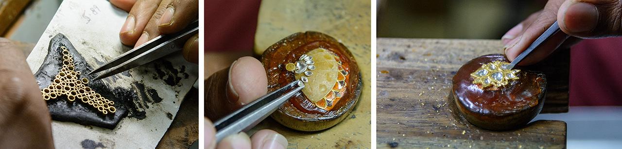 Manufacturing traditional kundan jewelry