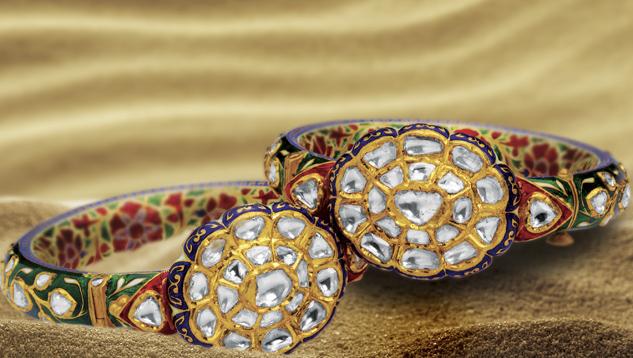 Kundan meena jewelry by Birdhichand Ghanshyamdas