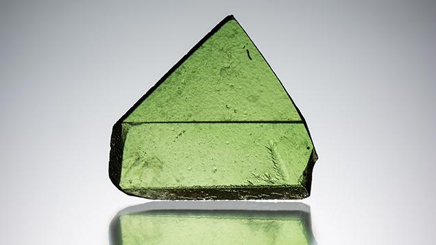 This Russian titanite is green due to vanadium.