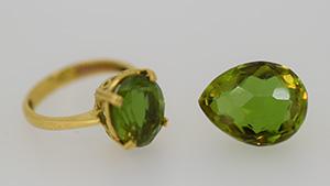 Glass imitations of Zultanite.