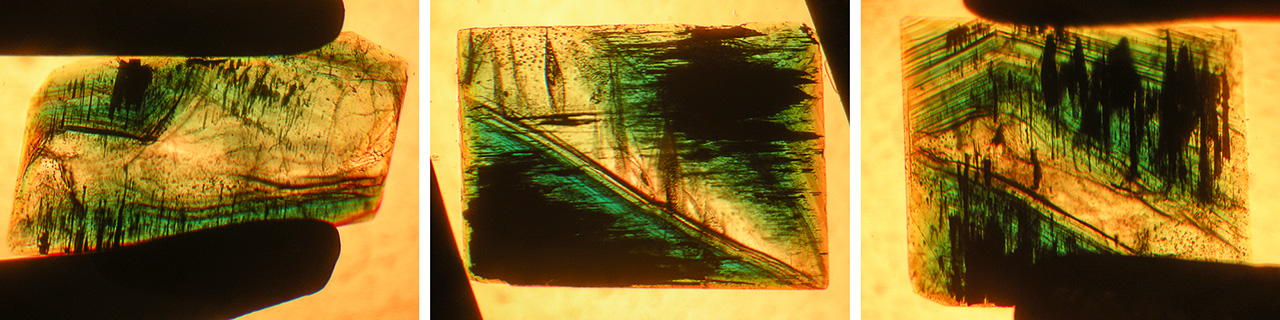 Growth and color zoning in type 1 Nacken synthetic emerald