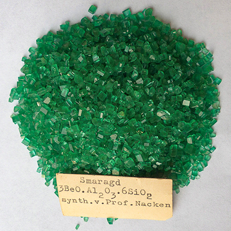 Synthetic emeralds grown by Nacken