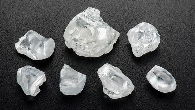 Rough CLIPPIR diamonds
