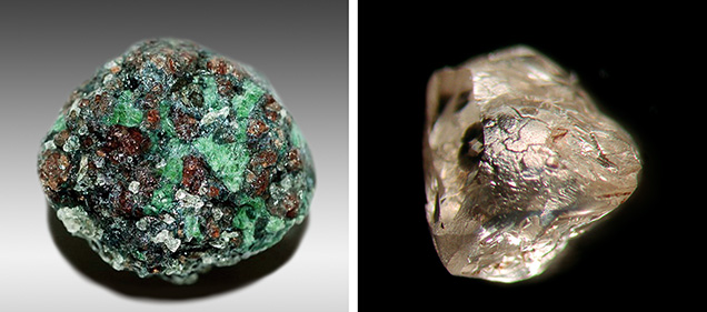 Fibrous cubic diamond from Wawa