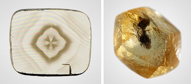 Diamond from Jericho eclogite and Juina superdeep diamond