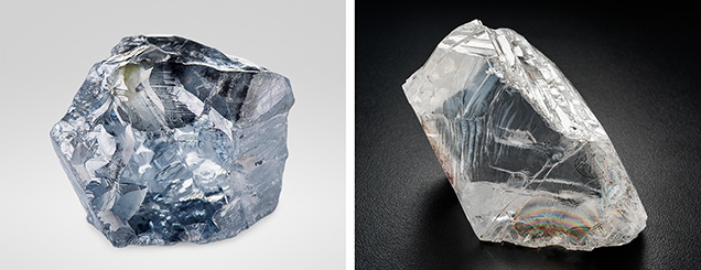 Diamonds that crystallize from boron-rich fluids and reduced metallic melts