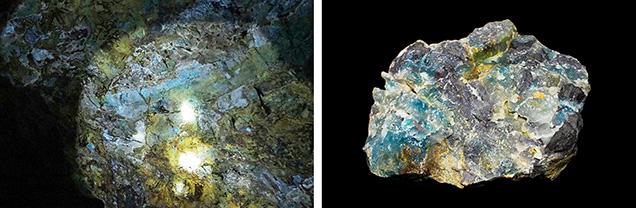 Guizhou Jade develops in interlaminar fissures