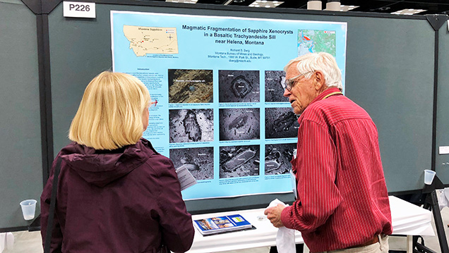 Richard Berg presents his poster on Montana sapphires