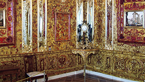 Detail of the reconstructed Amber Room