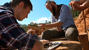 Field gemologists sort through gem gravel in Myanmar
