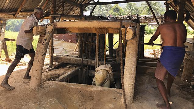 Sapphire mining in Sri Lanka still uses man-powered techniques