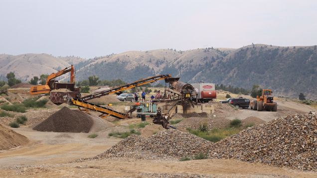 Mechanized mining operations in Montana
