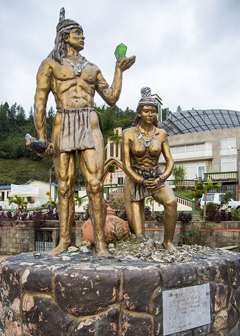 Statue in Chivor celebrates long history of emerald mining in Colombia