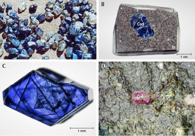 Gem corundum associated with alkali basalts