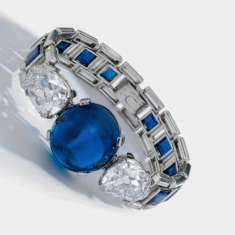 Cartier bracelet with Kashmir sapphire