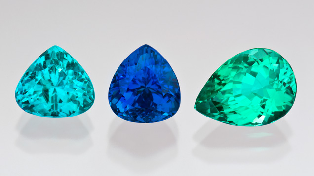 Brazilian Paraíba tourmalines with exceptional color