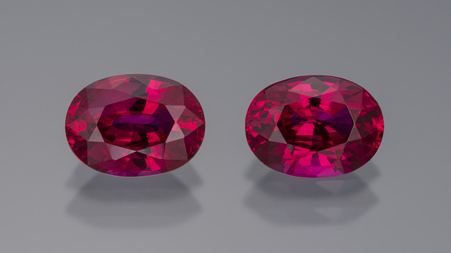 Matched pair of Burmese rubies